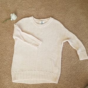 Old Navy pale pink open knit sweater XS